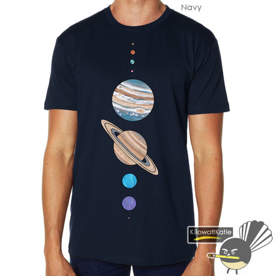 Image of Solar System - Printed Tee