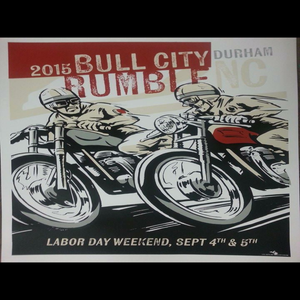 "Image of NEW: 2015 Bull City Rumble Lg. 18"" x 24"" Hand Screened Print"