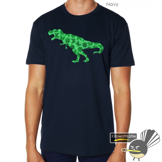 Image of Green Pretty Rex - Printed Tee