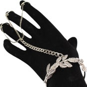 Image of Egyptian Goddess Hand Chain in Silver