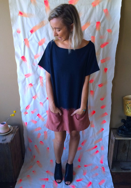 Image of Dip Dyed Linen Tunic