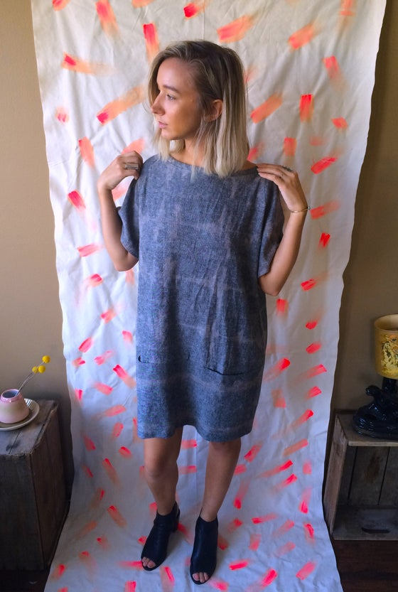 Image of Shibori Dyed Linen Tunic
