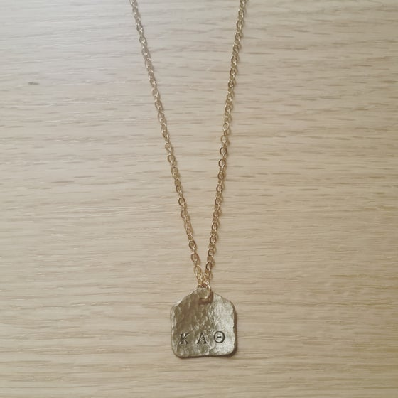 Image of Love Letter Stamp Necklace