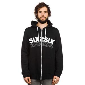 Image of SIX2SIX ZIP HOODIE (WHITE AND BLACK)
