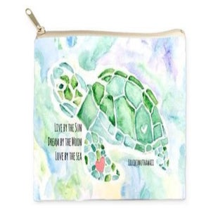 Image of Turtle Love Watercolor Clutch