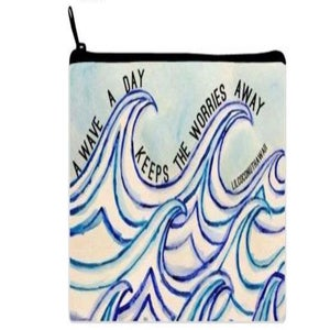 Image of Wave a Day Watercolor Clutch
