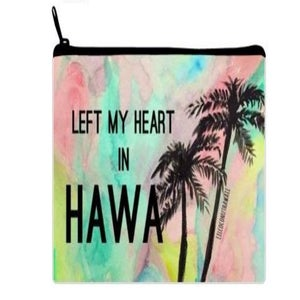 Image of Left My Heart in Hawaii Watercolor Clutch