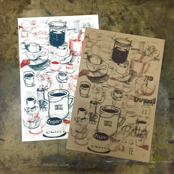 Image of Coffee Collection Screen Print