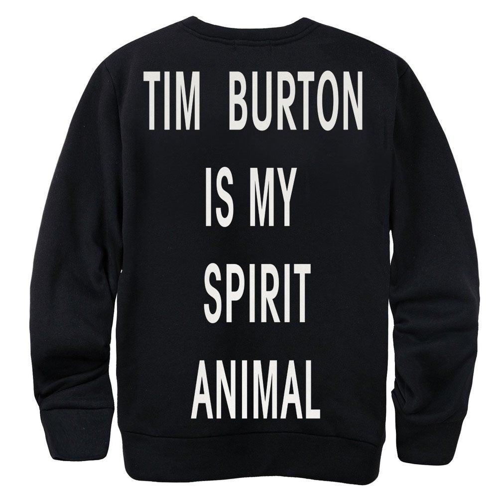 Image of TIM BURTON IS MY SPIRIT ANIMAL SWEATER