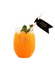 Image of Palm Beach Lately Flamingo Stemless Acrylic Wine Glass