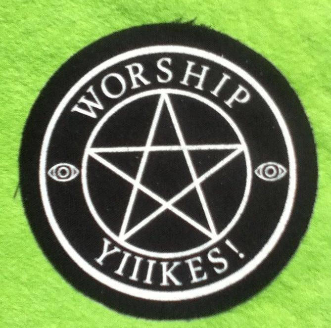 Image of Worship Yiiikes! Patch
