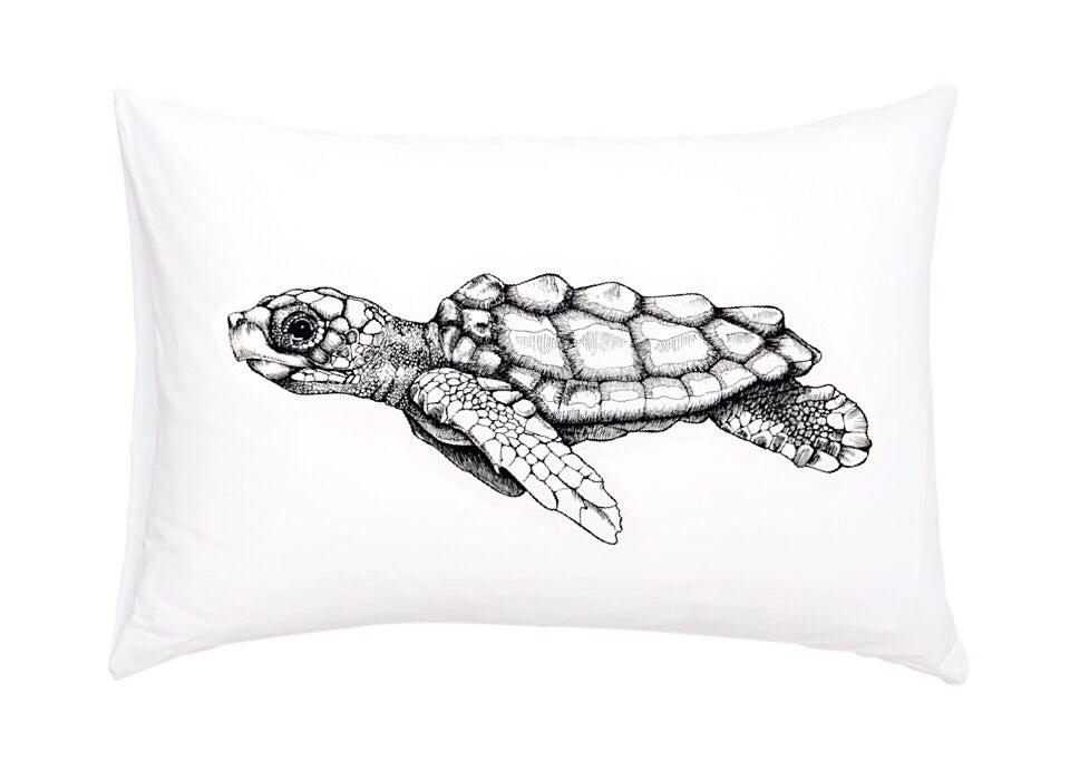 Image of Loggerhead Sea Turtle Pillowcase