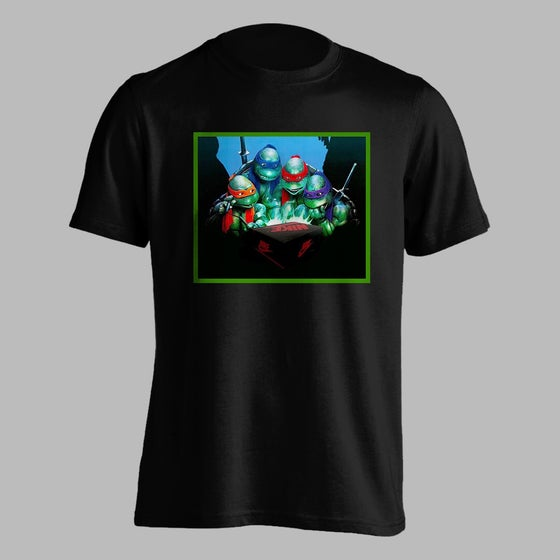 Image of New Sneaker Turtles Shirt (Black)
