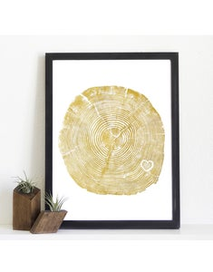 Image of Giclee Stump Print <br><i>Heart Of Gold</i>
