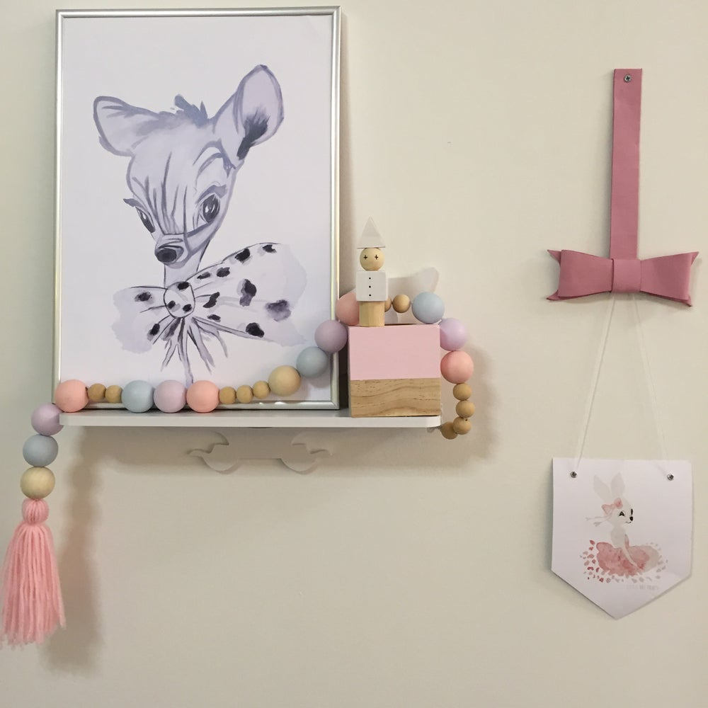 Image of Leather Bow Print Hangers