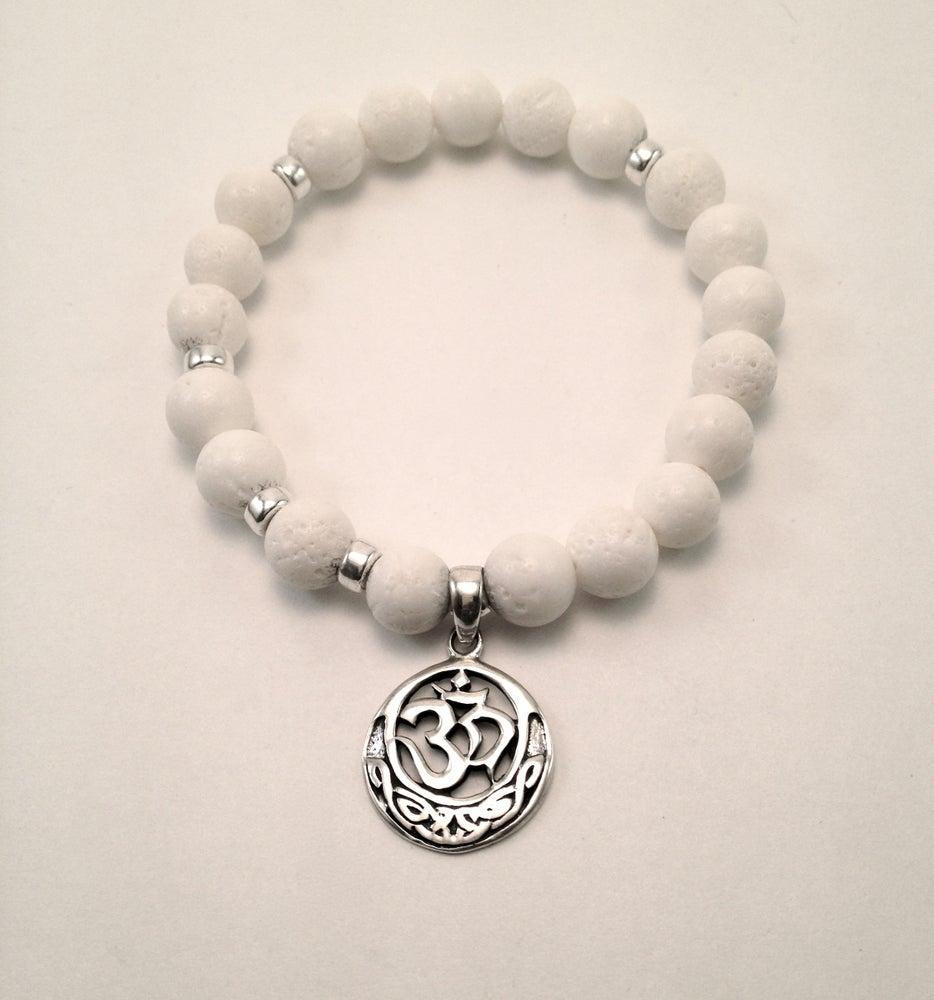 Image of White Coral Infinity Wrist Malas