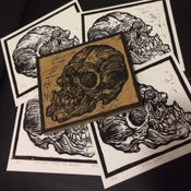 Image of Skull Linocut