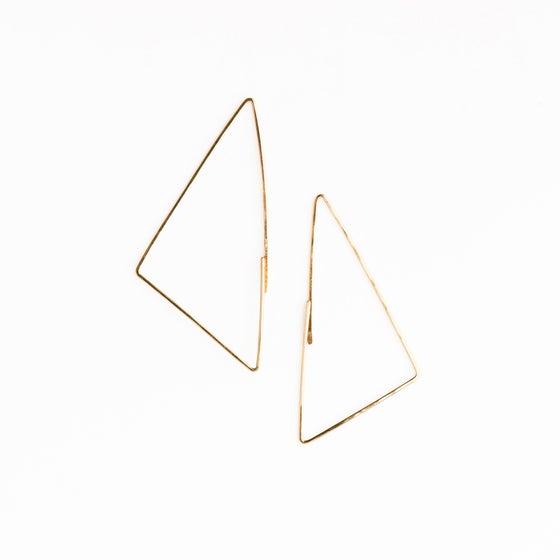 Image of Petites boucles d'oreilles Triangle