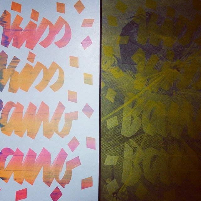 Image of With a Kiss and a Bang / ATTAK & tind Screen Print Poster Collab