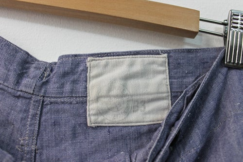 Image of 1950 FRENCH LINEN SAILOR PANT