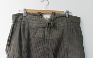 Image of 1900'S FRENCH SALT N' PEPPER STRIPPED PANTS PATCHED & FADED