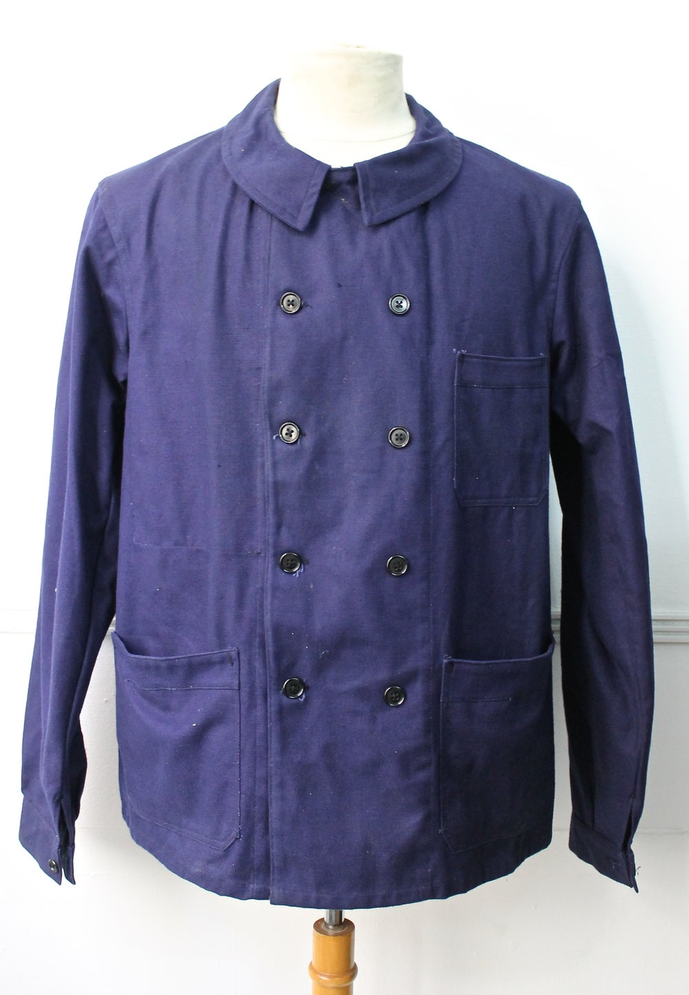Image of 1950 DOUBLE BREASTED WORK JACKET DEADSTOCK