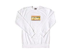 Image of Box Logo (White Sweatshirt)