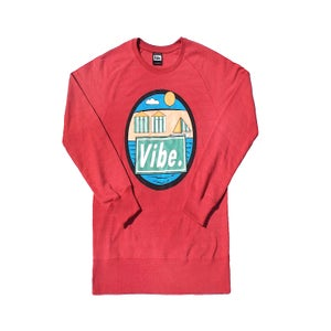 Image of Beach (Heather Red Sweatshirt)