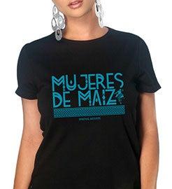 "Image of Unisex Tee ""Mujeres de Maiz"" in Turquoise"