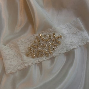 Image of Rhinestone Garter Belt