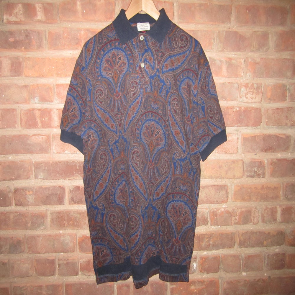 Image of Etro Milan for Bergdorf Goodman Vintage Paisley Polo Shirt, L