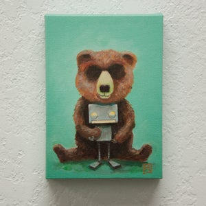 Bear and Robot II - Robot Art by Matt Q. Spangler