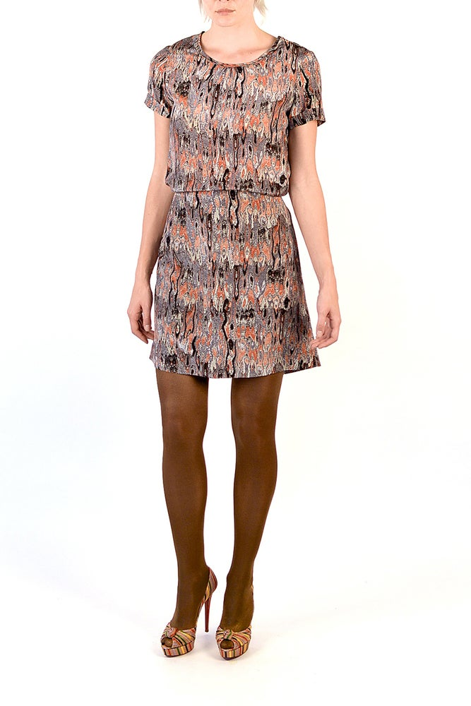 Image of Sam Dress (Feather Print)