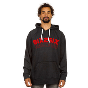 Image of SIX2SIX RECORDS HOODIE (BLAZE RED AND SLATE )