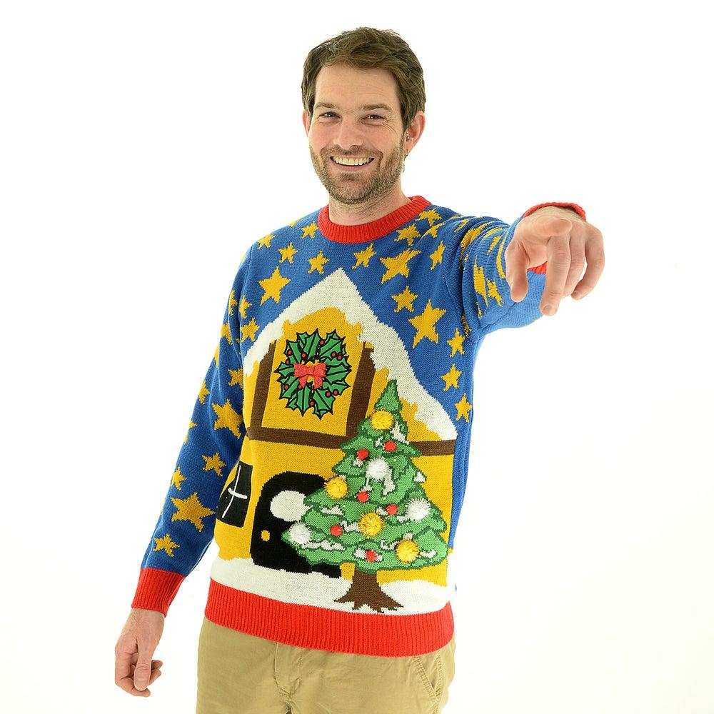Xmas light up christmas jumper unisex cheesy christmas jumpers