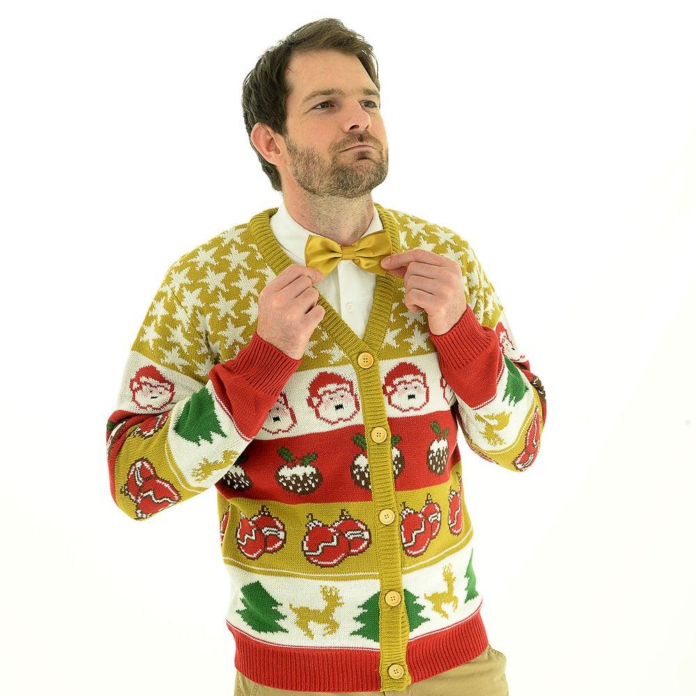 Image of Golden Cracker Christmas Cardigan - Unisex