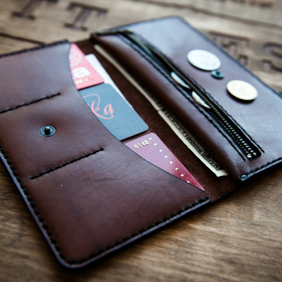 Image of Handmade | Black/Brown Wallet P4