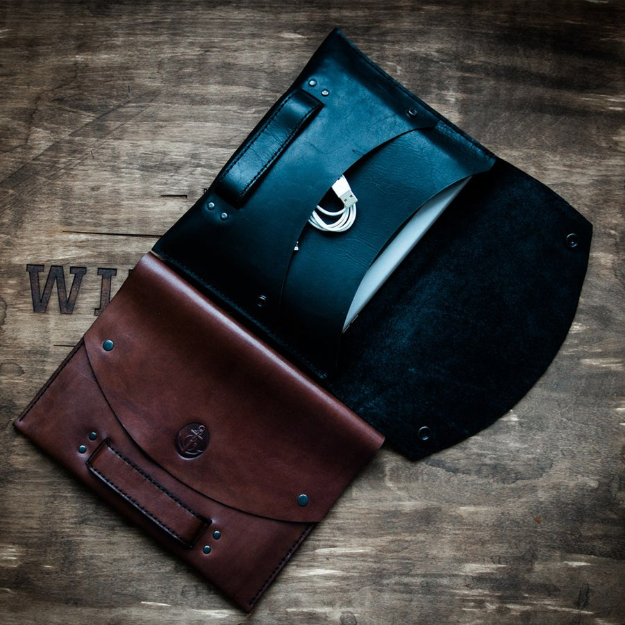 Image of Handmade | Brown/Black Messenger Bag K1