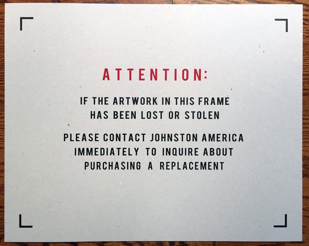 Image of Attention - Screen Printed Art Print