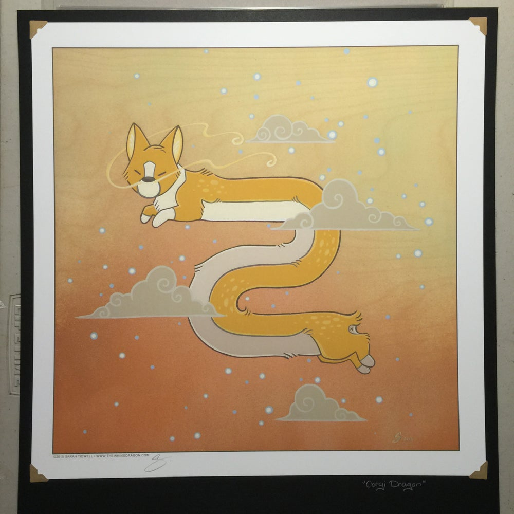 Image of 'Corgi Dragon' - Lithograph Print
