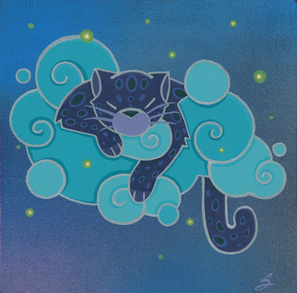 Image of 'Cloudy Leopard' - Lithograph Print