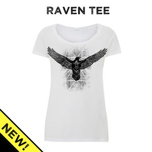 Image of Strange Raven tee - Womens Twisted-Neck