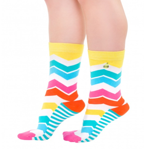 Image of Rainbow Sunrise : Woven Pear Socks