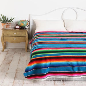 Image of Mexican Serape, Cobalt Blue