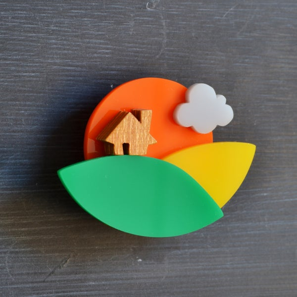 Image of Countryside Sunset Brooch
