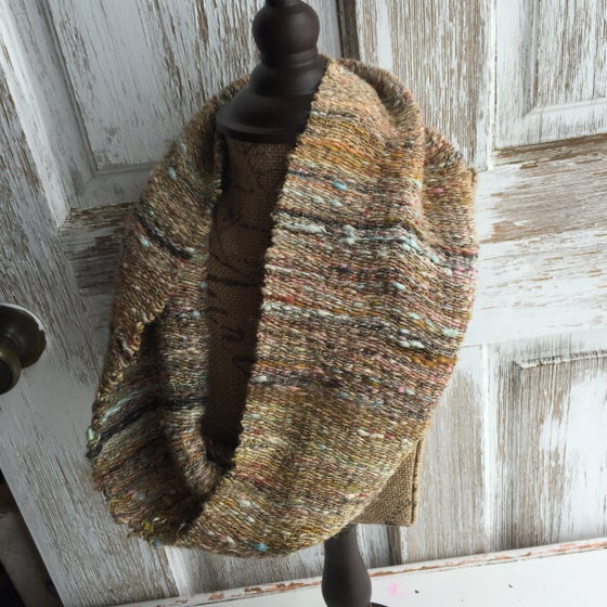 Image of Woven Cowl // handwoven and handspun with natural fiber