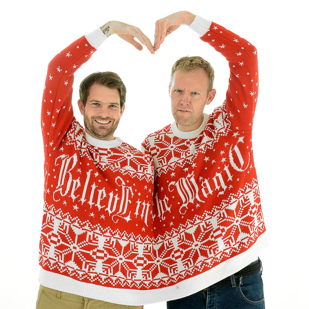 Believe in the Magic Twosie Christmas Jumper for 2 People / Cheesy ...