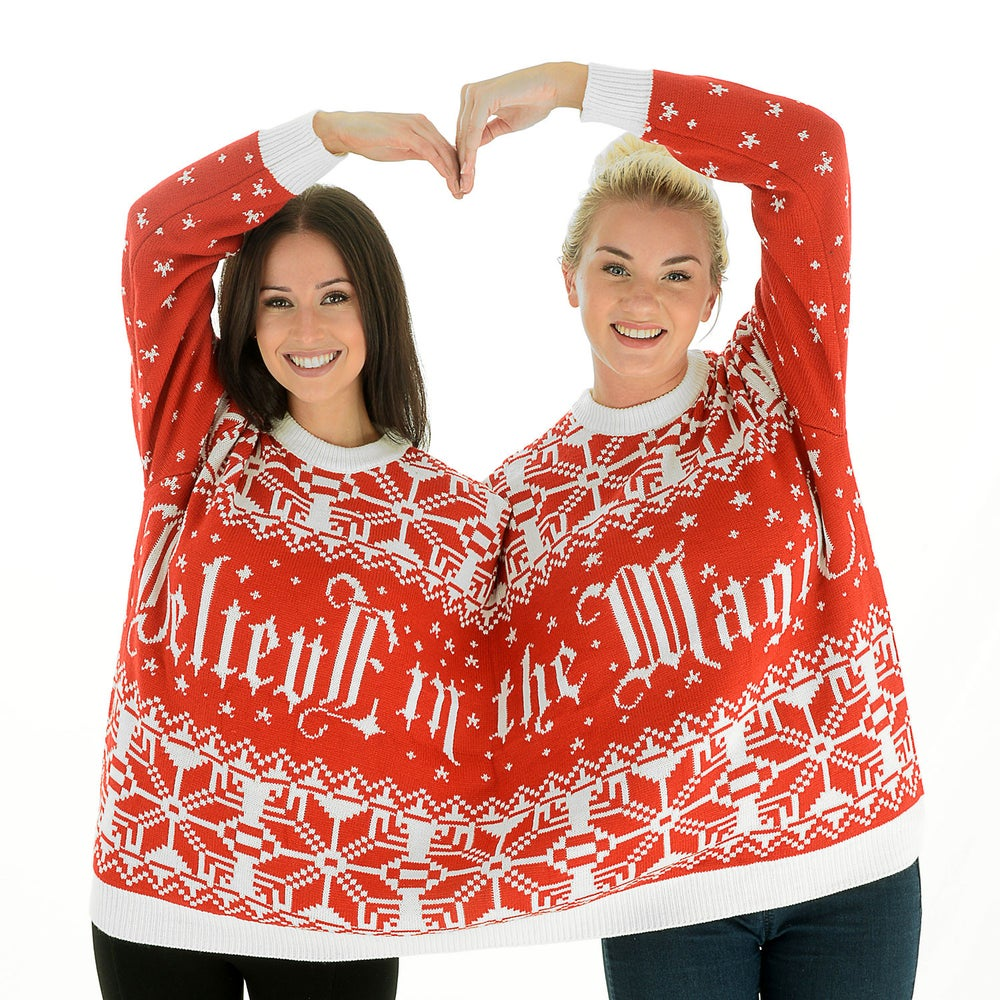Image of Believe in the Magic Twosie Christmas Jumper for 2 People