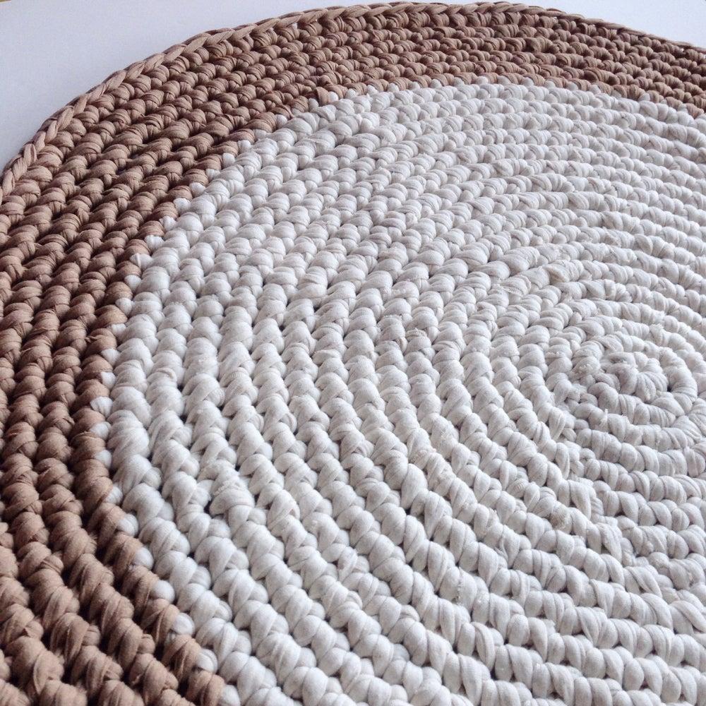 Image of Natural & Beige Crochet Rug
