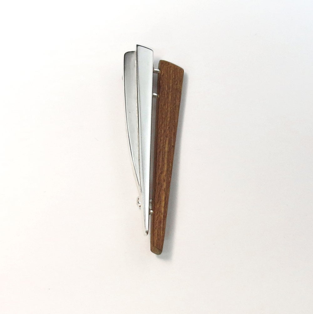Image of Mahogany and Silver Kilt Pin - Grain and Glint Series